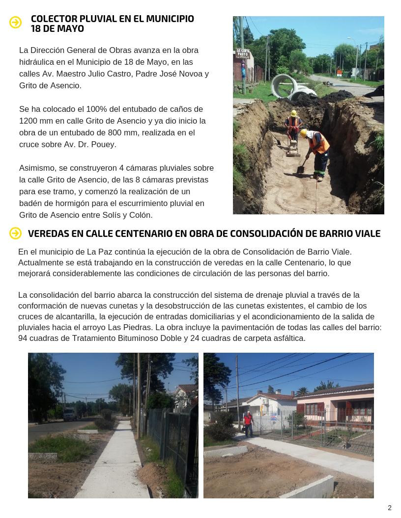 Boletín de obras 2 - Febrero 2019