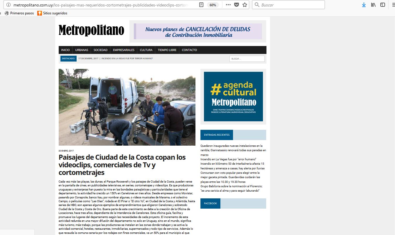 Nota sobre Locaciones Canarias en Metropolitano