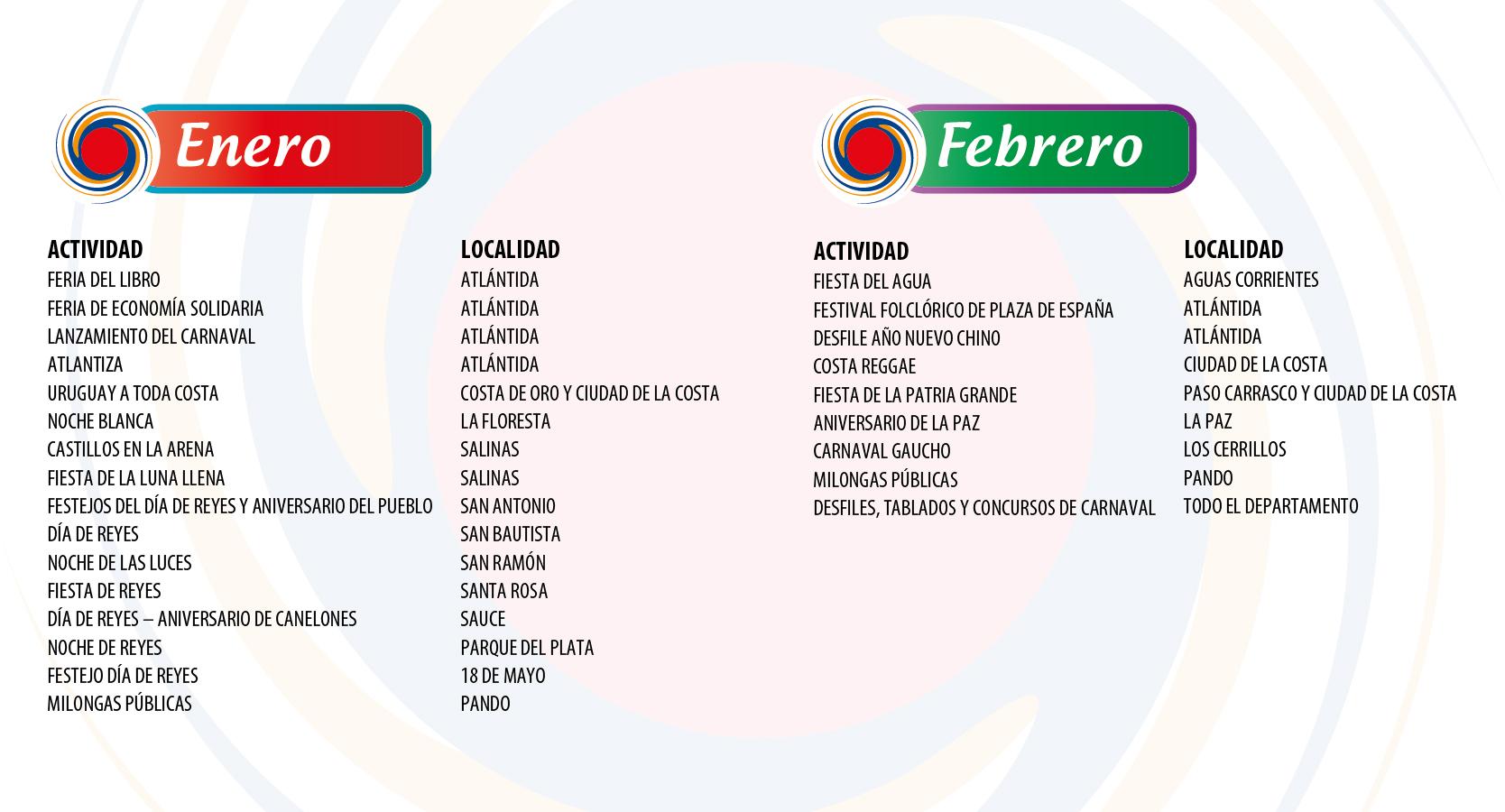 Fiestas Canarias - Enero / Febrero
