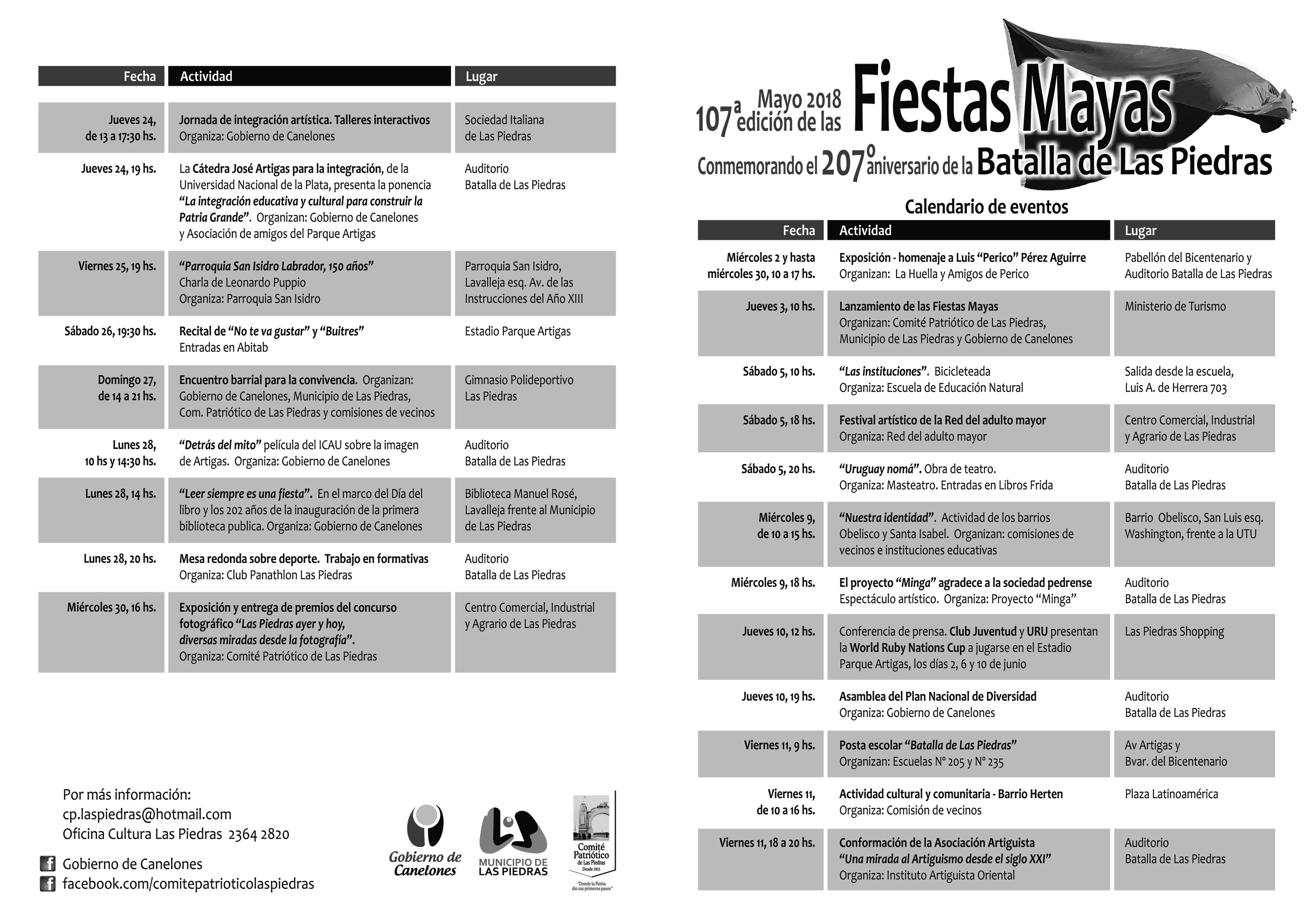 Programa Fiestas Mayas 1