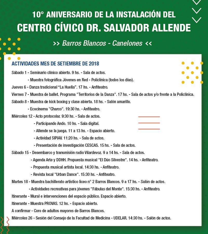 Actividades Salvador Allende