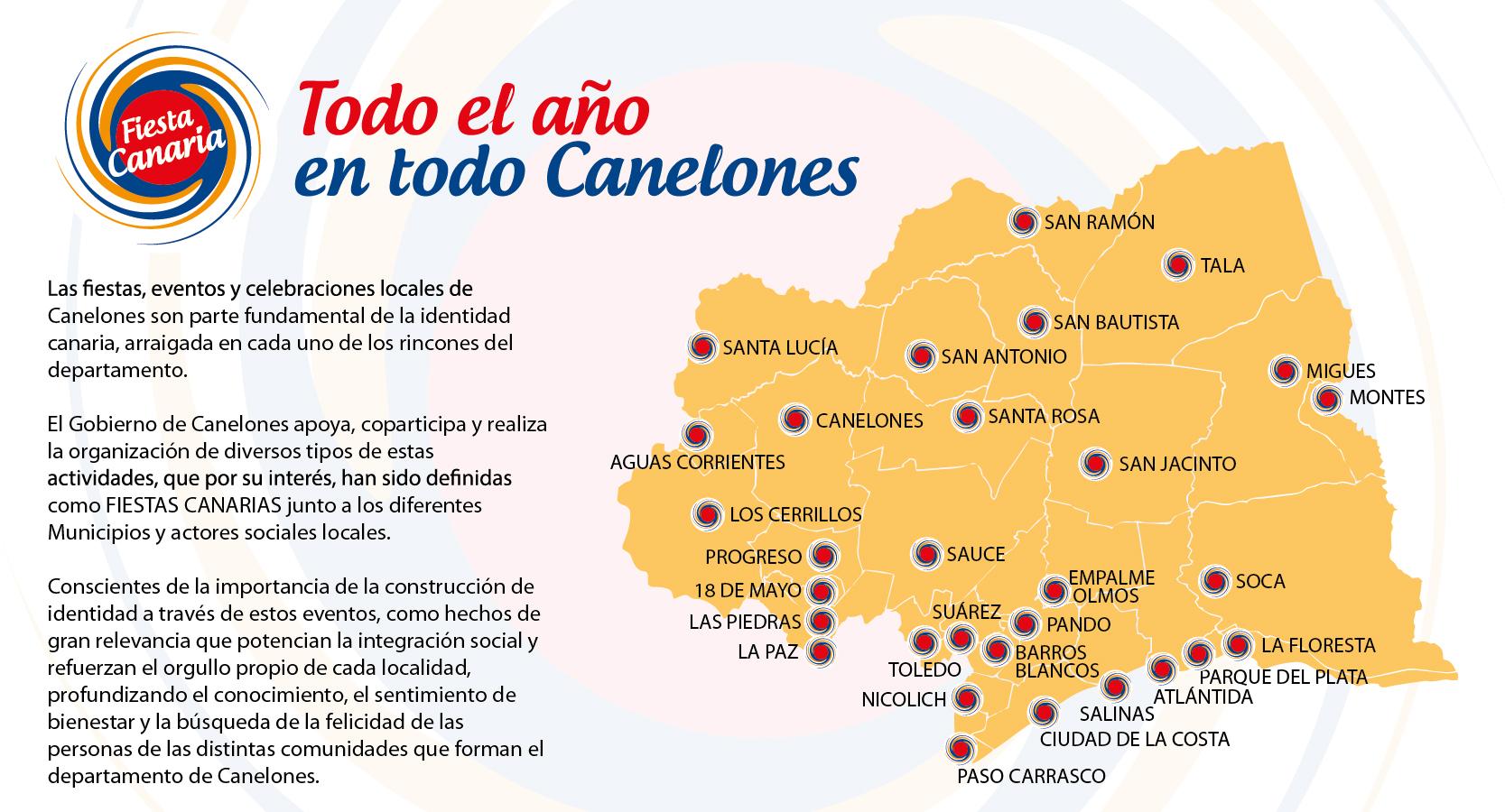 Fiesta Canaria, todo el año en todo Canelones